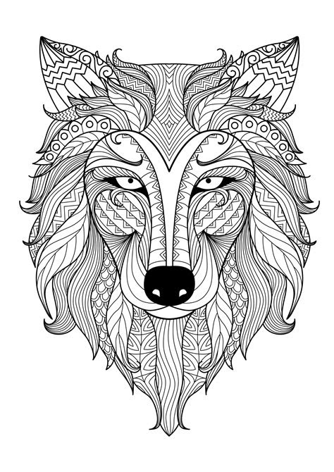 incredible wolf  bimdeedee animals coloring pages