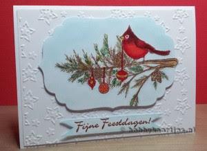 Magenta Christmas Cardinal