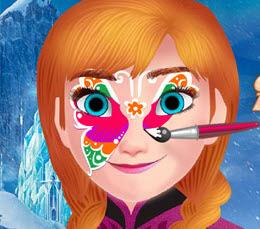 Anna Yüz Boyaması Yapıyor Oyna