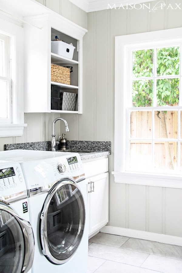 Tips for Designing and Decorating Your Laundry Room - Image via Maison de Pax | www.andersonandgrant.com