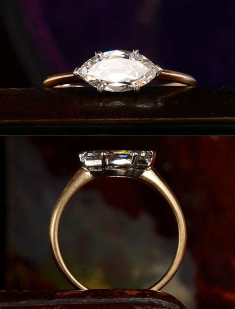 EB Marquise Ring, 1.03ct Antique Marquise Diamond (GIA: H