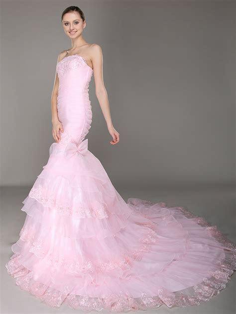 Pink Wedding Dress Vera Wang   Dresscab