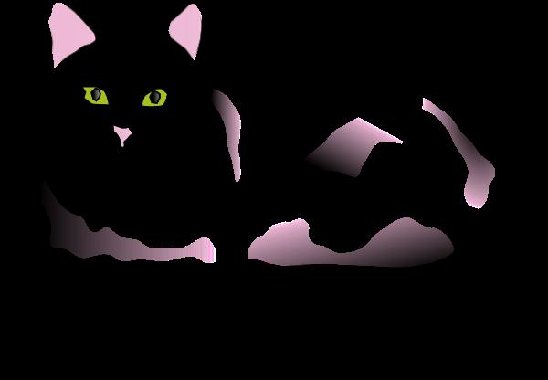 black and white cat cartoon. lack and white cat cartoon.