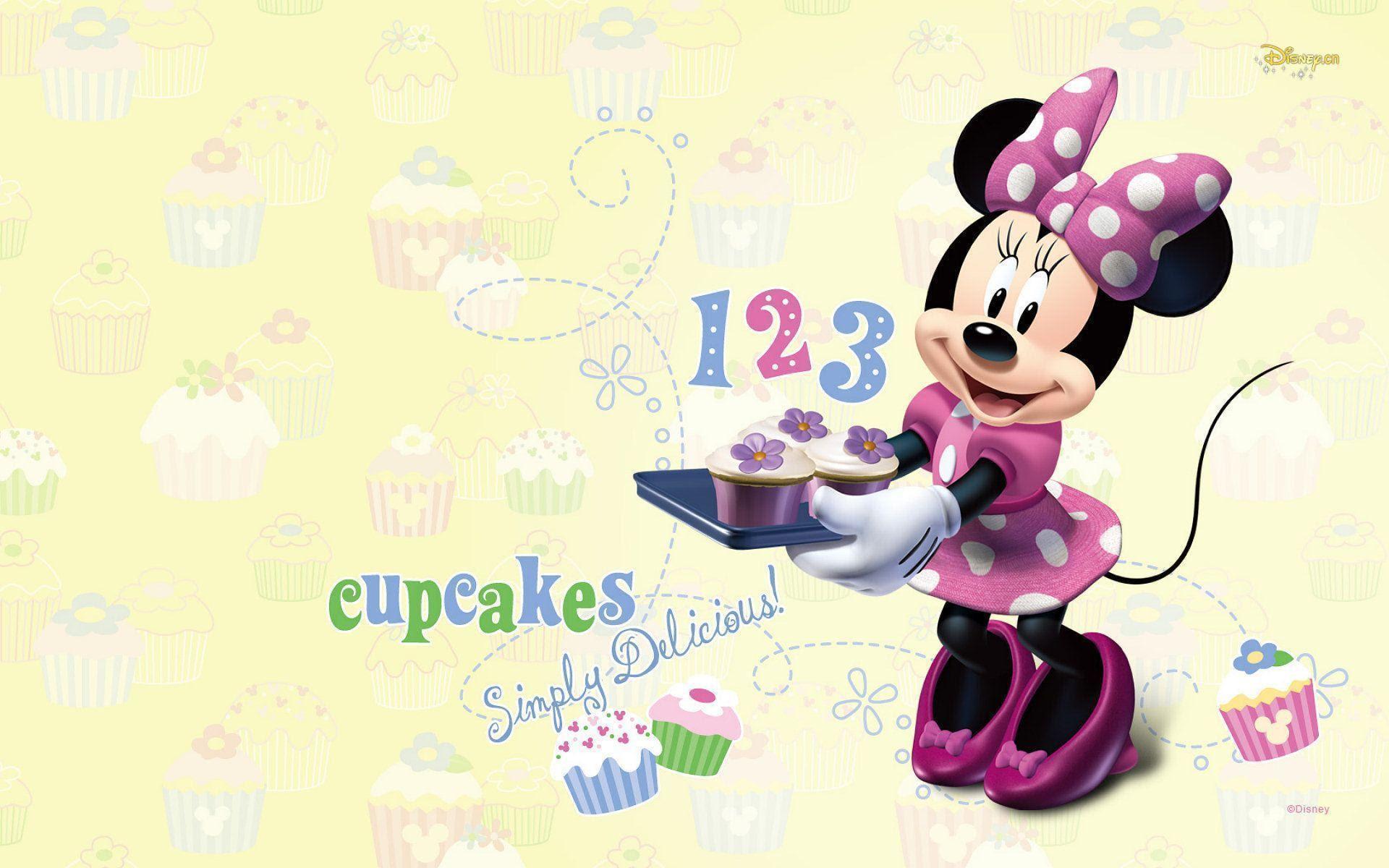 カップケーキ 1920x ディズニー ミニーマウスpcデスクトップ