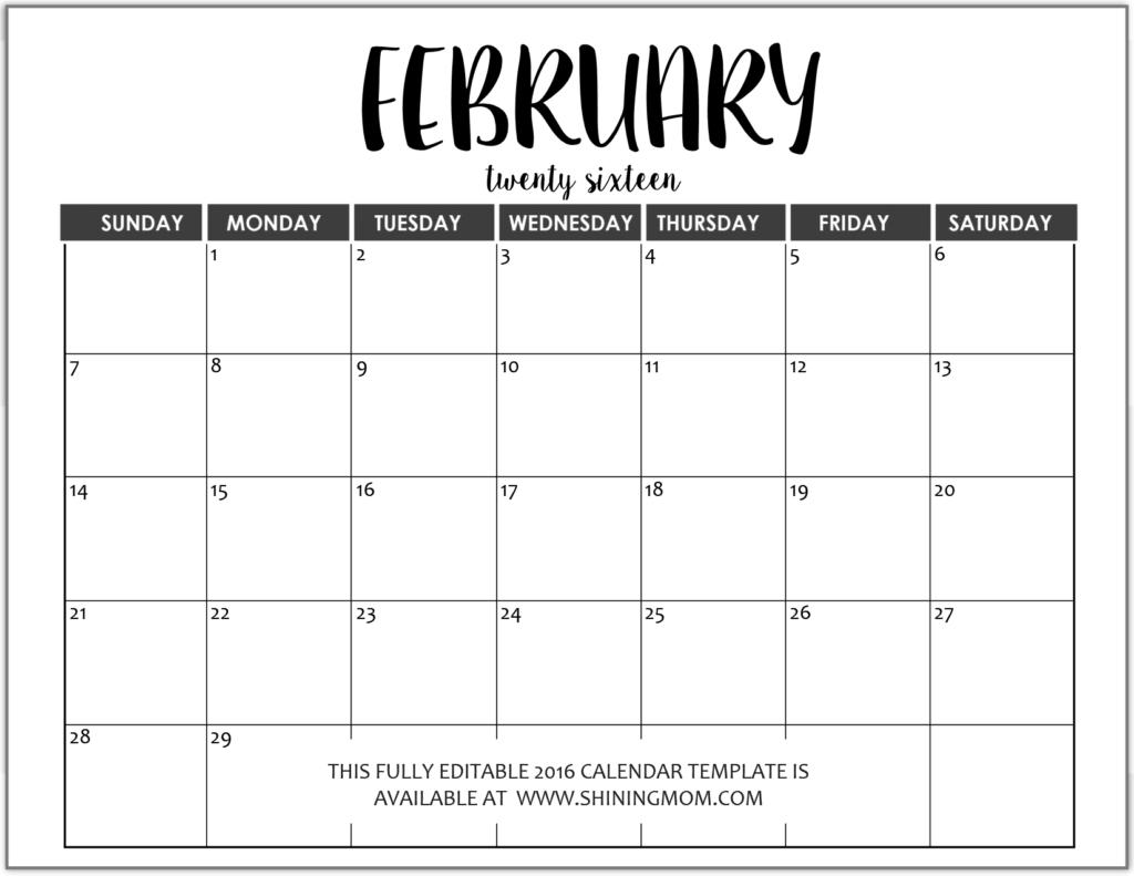 calendar template 2017 editable - Calendar