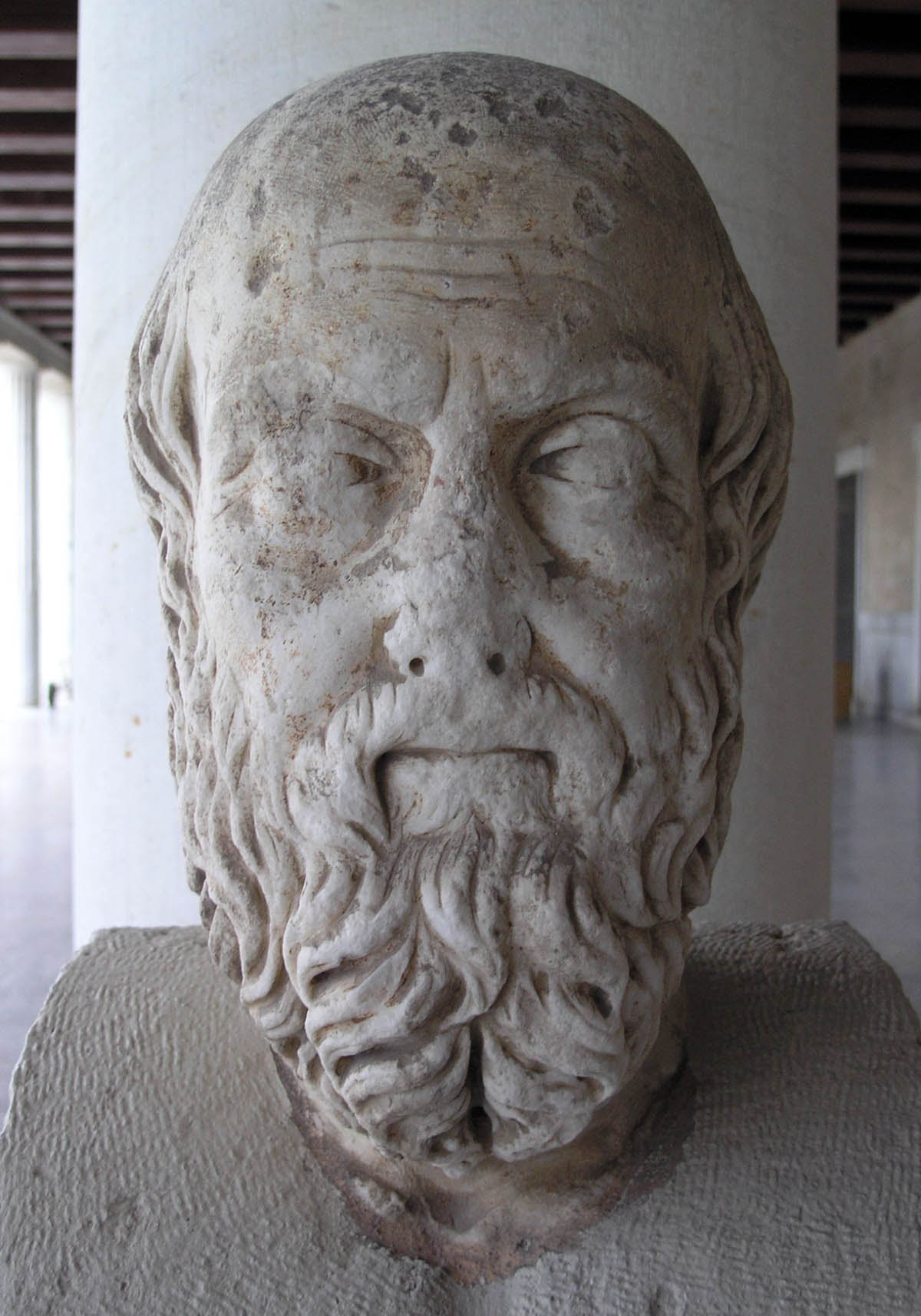 Busto de Heródoto, considerado o Pai da história e padrinho oficial de nosso Frankenstein histórico
