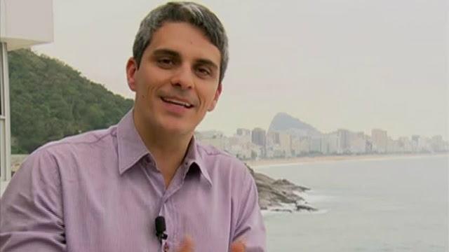 Repórter da Globo, André Galindo, inciou carreira da TV Asa Branca. Foto: Globo/Reprodução