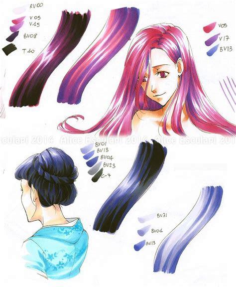 copic italia tutorial  colorare  capelli  stile