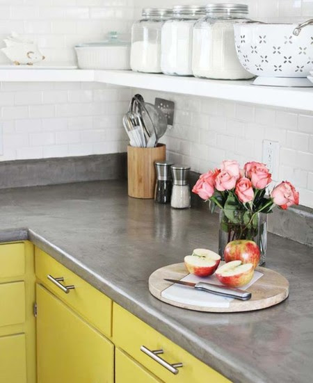 Kitchen Concrete Countertops 03 1 Kindesign