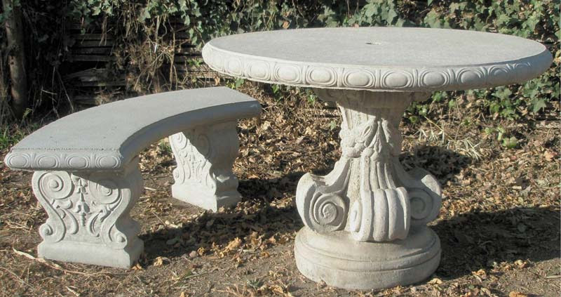 6620 Round Table & 6621 Curved Bench – RW Statuary