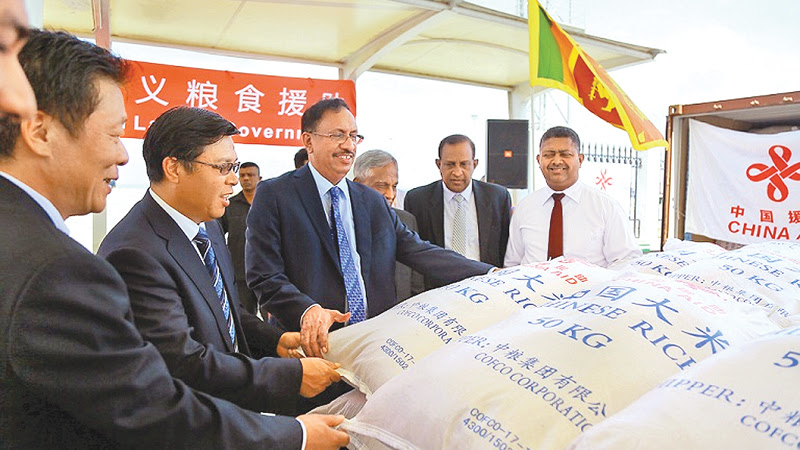 First consignment of China rice donation arrives