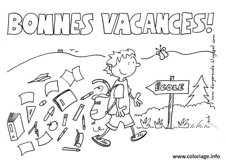 Coloriage Vacances Ecole Ete Ete Jecoloriecom