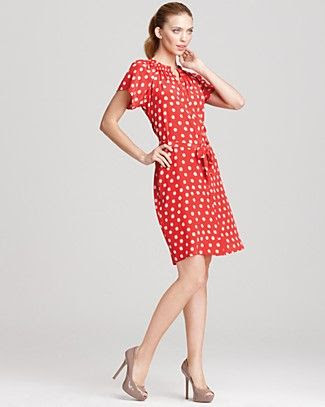 Tucker Short Sleeve Polka Dot Dress