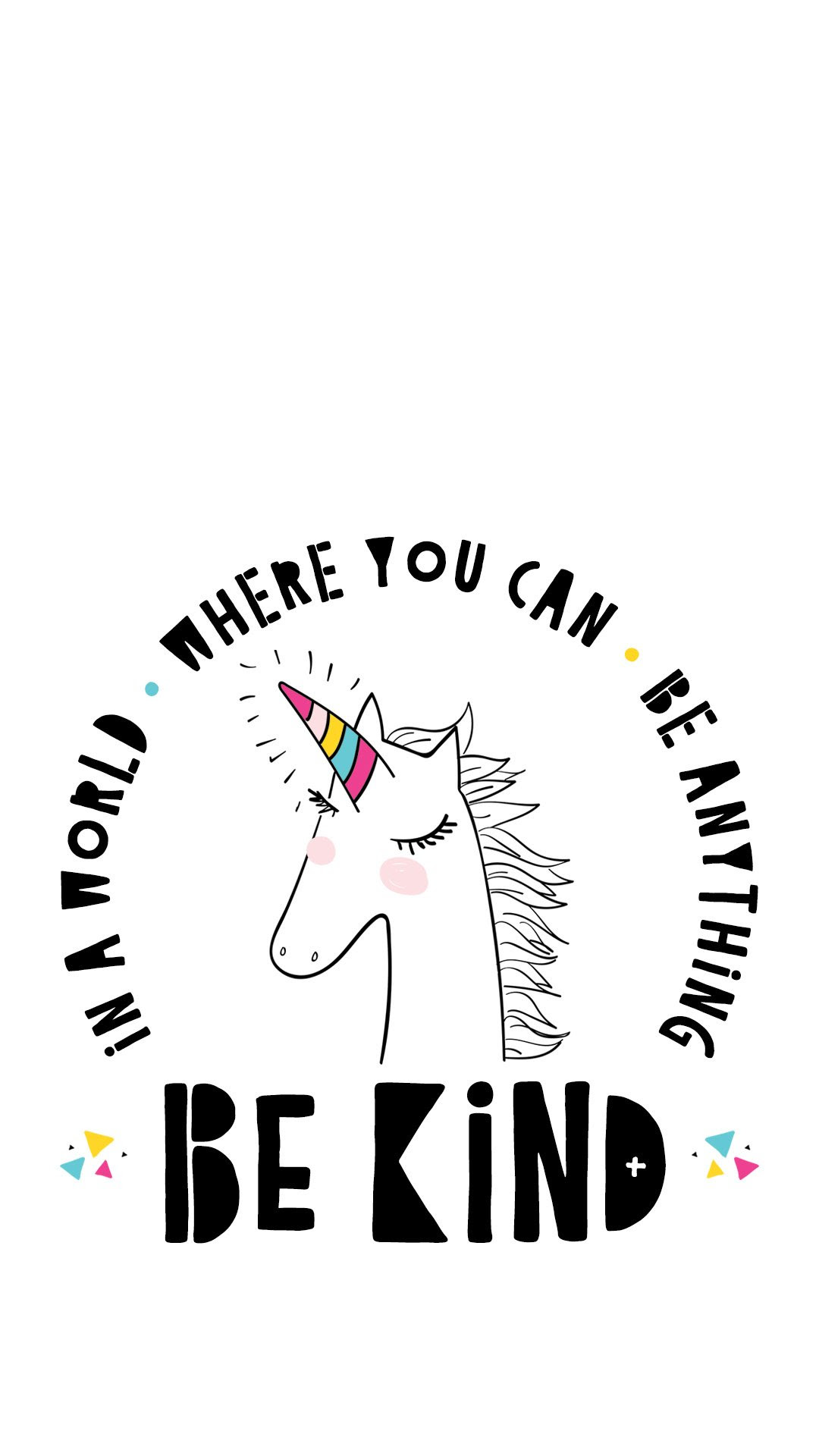 Unicorn Be Kind Quote Printable Wallpaper Hostess With The