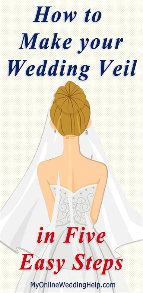 How to Make a Wedding Veil in 5 Easy Steps. DIY bridal