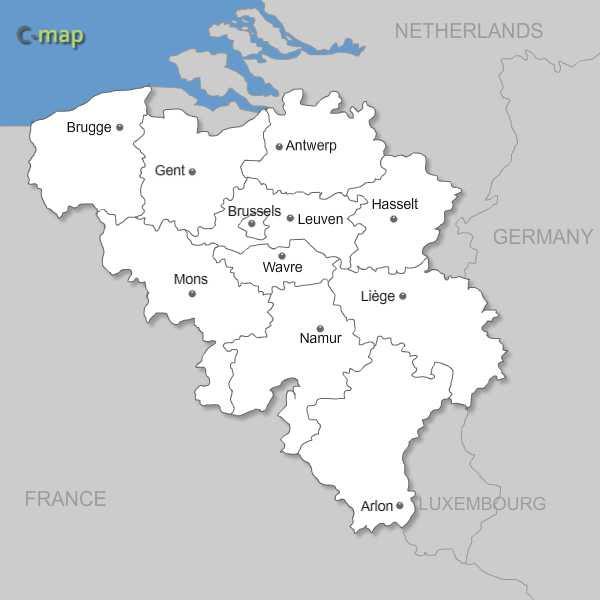 Maps of Belgium