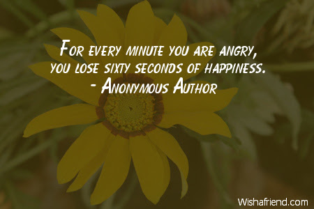 Anonymous Author Quote For Every Minute You Are Angry You Lose