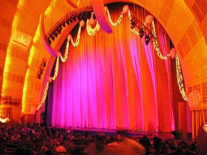 This the Radio City Music Hall in New York, Ne...