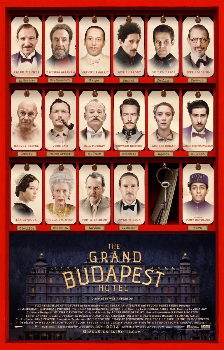 El gran hotel de Budapest, The Grand Budapest Hotel, película,