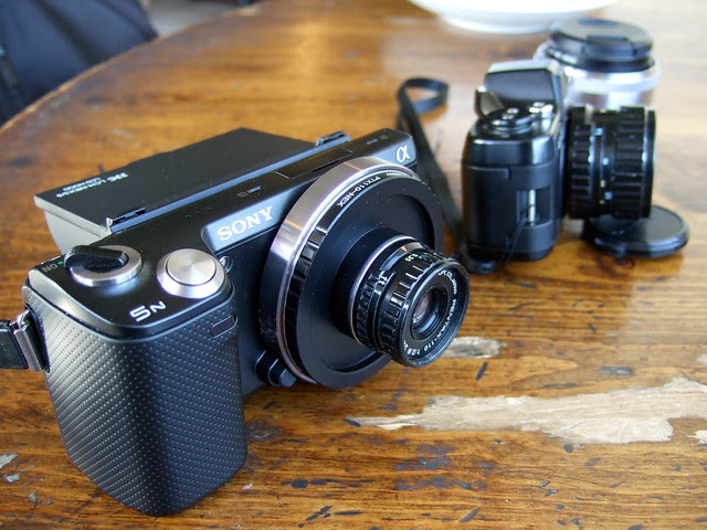 Sony NEX 5N with Pentax Auto 110 24mm f/2.8