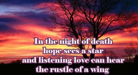 In The Night Of Death Hope Sees A Star And Listening Love Can Hear