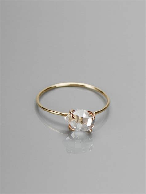delicate herkimer diamond ring if be afraid it'd fall