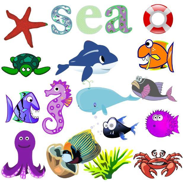 Dibujos De Animales Del Fondo Del Mar