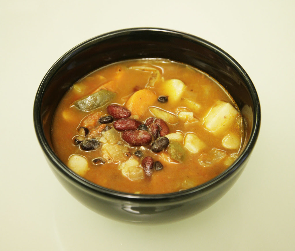 Spicy 3-Bean Vegetable Soup