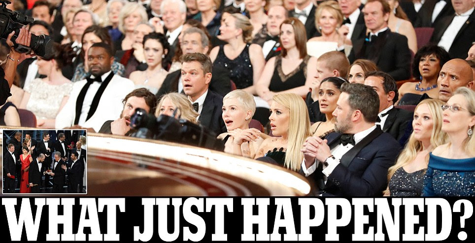 Photo shows crowd reaction to Oscars mix-up