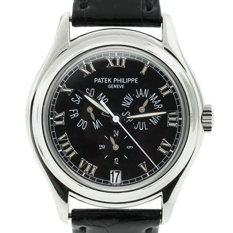 patek philippe p mens  annual calendar black
