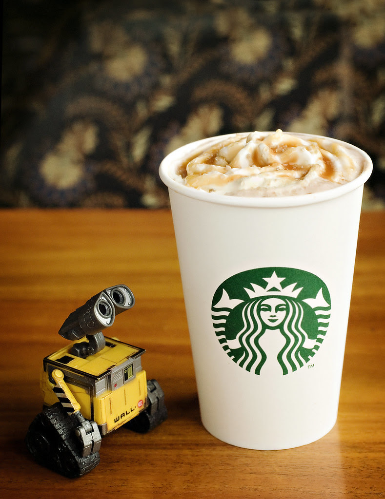 Salted Caramel Hot Chocolate for Wall-e