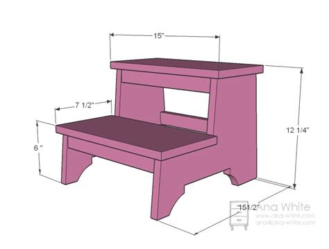 ana white vintage step stool diy projects