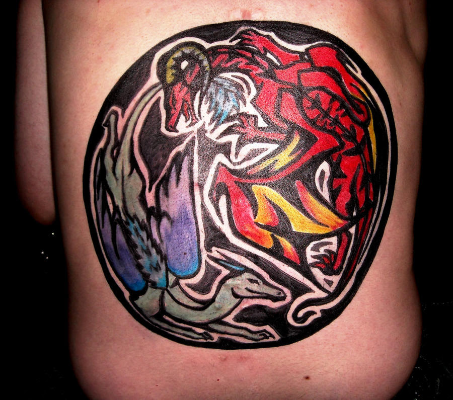 Good Vs Evil Dragon Tattoo Designs Olivero