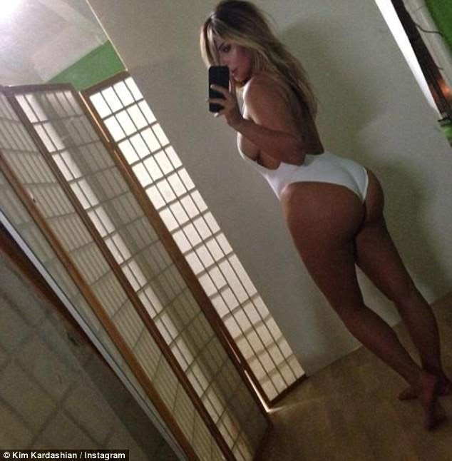 Photoshop? Kim pioneered the 'belfie', a bum selfie, but now fans are accusing her of turning to photoshop to get that luscious derriere