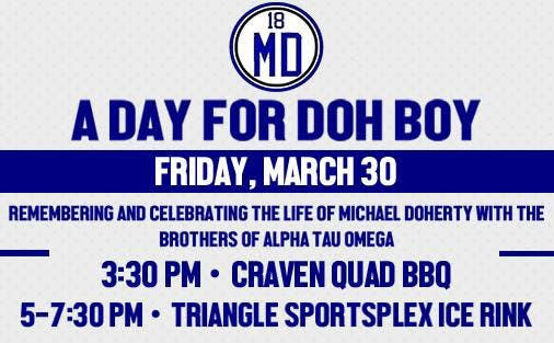 ATO fraternity brothers to host 'A Day for Doh Boy' in memory of Michael Doherty