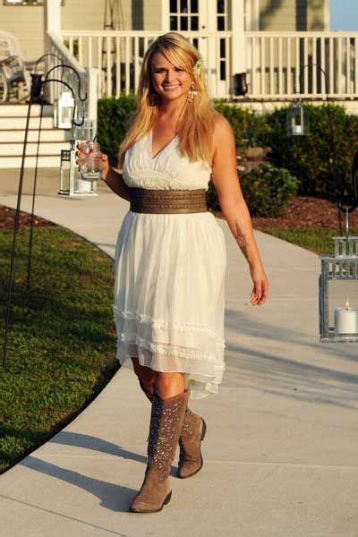 simple bridesmaid dresses to wear with cowboy boots