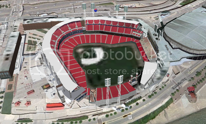 Great American Ball Park (Cincinnati, OH); 3D model by exoticcarguy