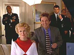 Glenn Close and Martin Short as the First Lady and Press Secretary