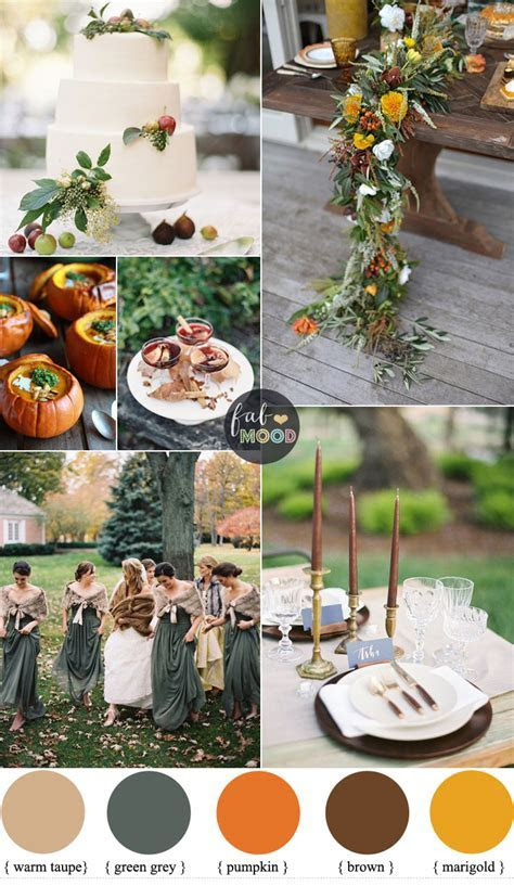 Warm Autumn Color Palette in warm spicy tones   green grey