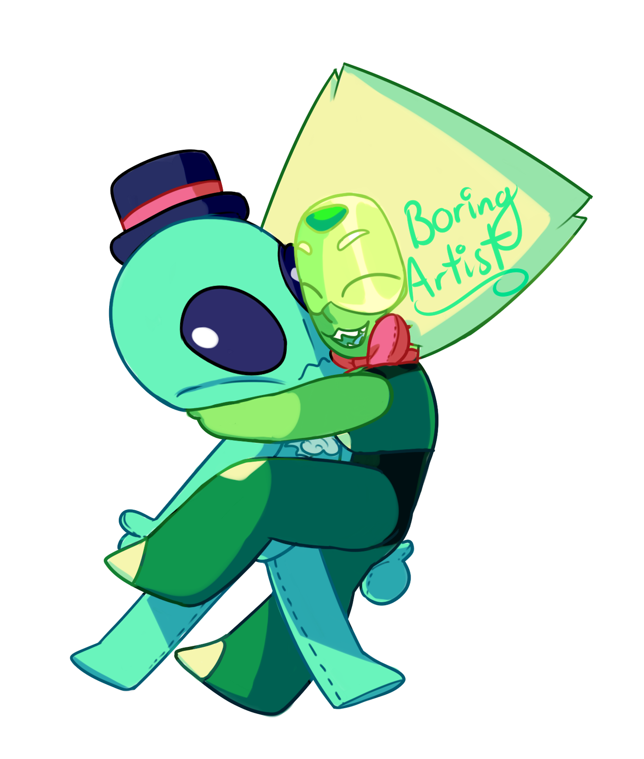 had this in the works for a while but finally got around to finish it! A girl and her alien plushie also on redbubble here