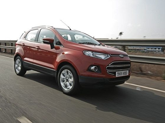 Ford EcoSport front three quarters action shot