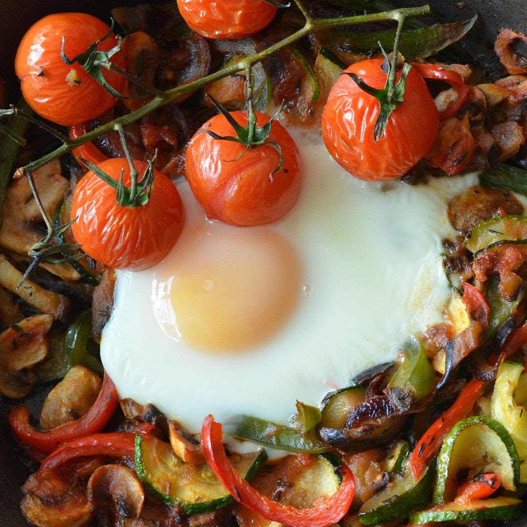 One Pan Egg Ratatouille