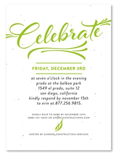 Corporate Event Invitations ~ Modern Script   Business