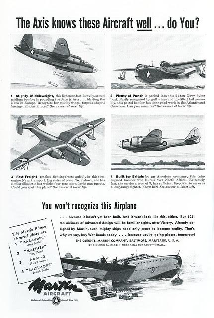 Martin Aircraft ad_1943_tatteredandlost