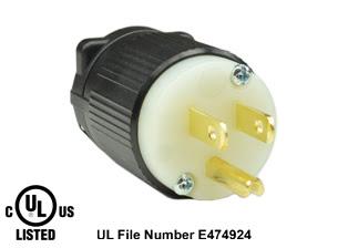 15 Ampere 125 Volt Nema 5 15p 5 15 5 15p Power Plug 2 Pole 3