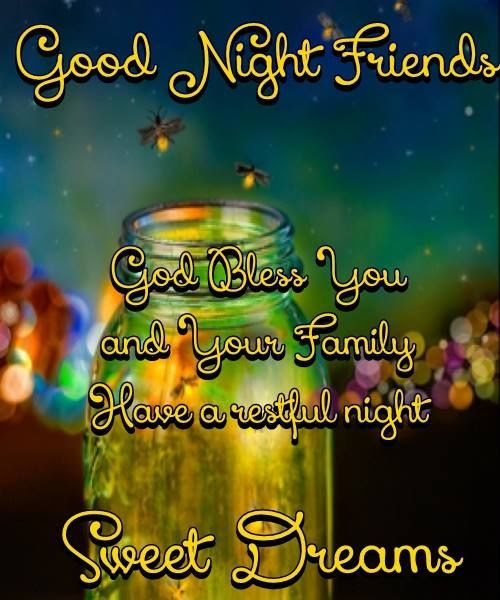 Good Night Friends Quote Pictures Photos And Images For Facebook