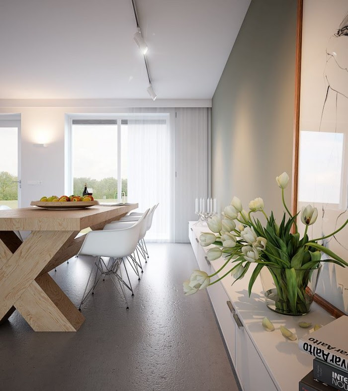 Chunky wooden dining tablejpeg