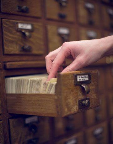 library card catalog -