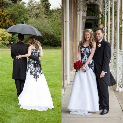 Vintage Gothic Wedding Dresses 2016 Cheap A Line Train