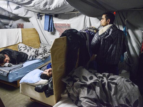Rifugiati in un campo a Thisted in Danimarca